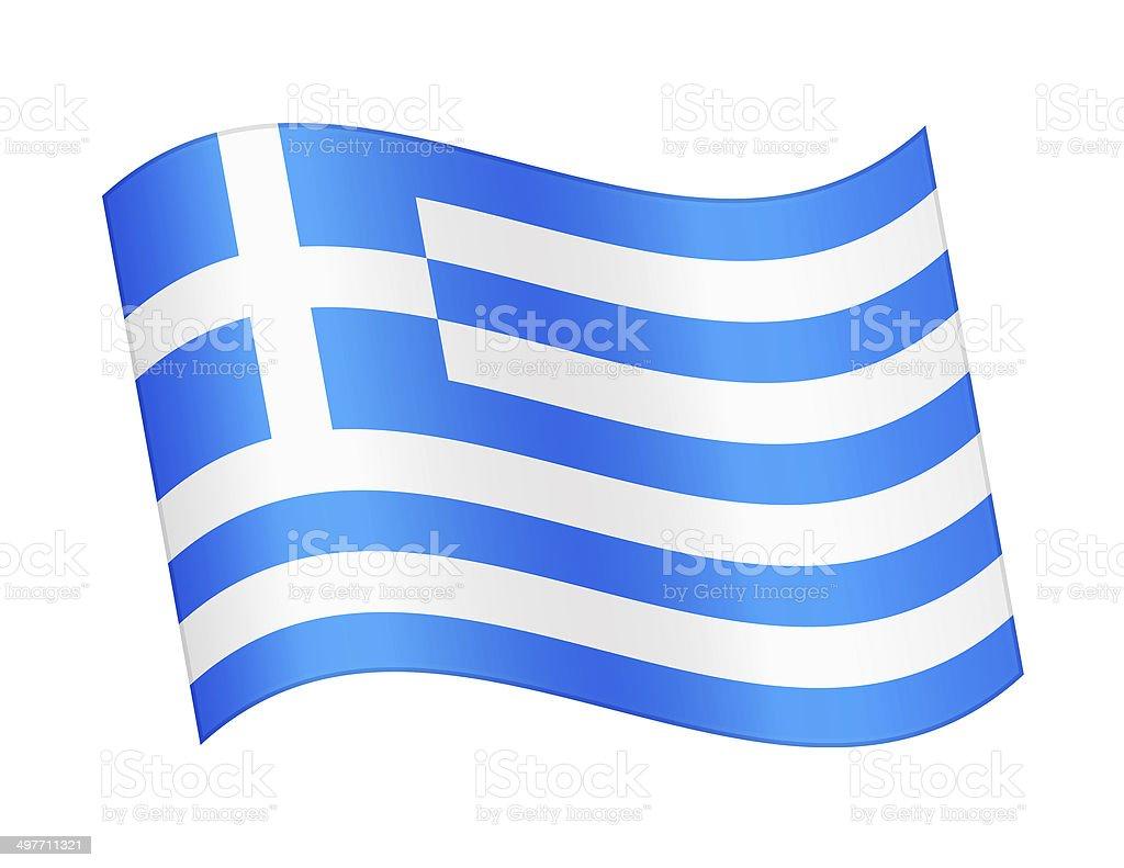 Flag of Greece royalty-free stock vector art