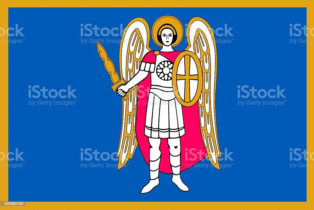 Flag of Kiev vector art illustration
