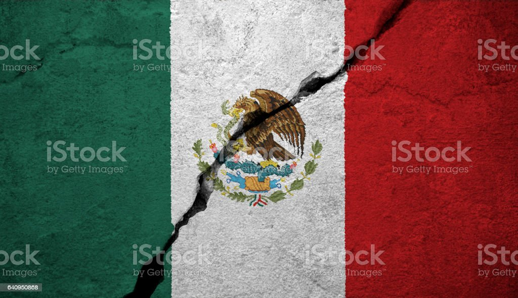 flag of Mexico vector art illustration