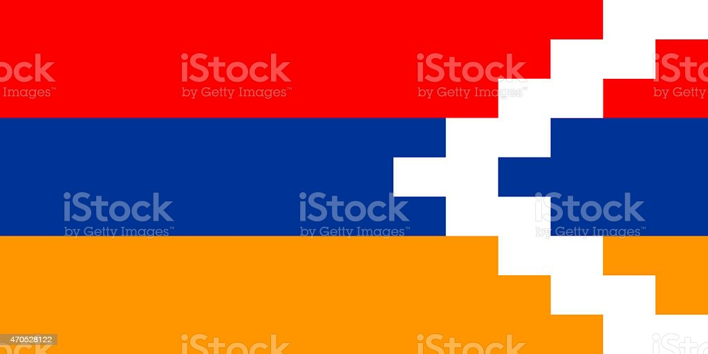 Flag of Nagorno-Karabakh vector art illustration