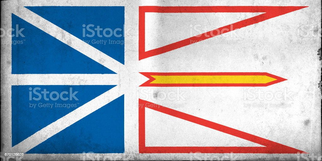 Flag of Newfoundland and Labrador, USA with an old, vintage style stock photo