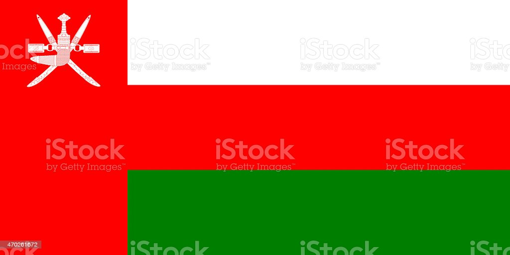 Flag of Oman vector art illustration