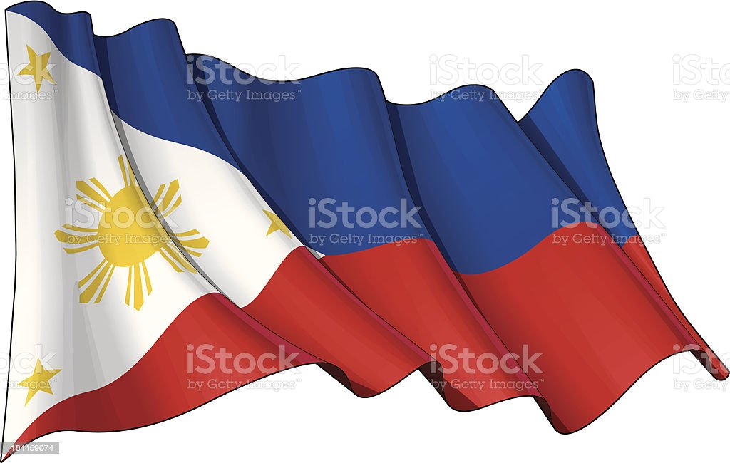 Flag of Philippines royalty-free stock vector art