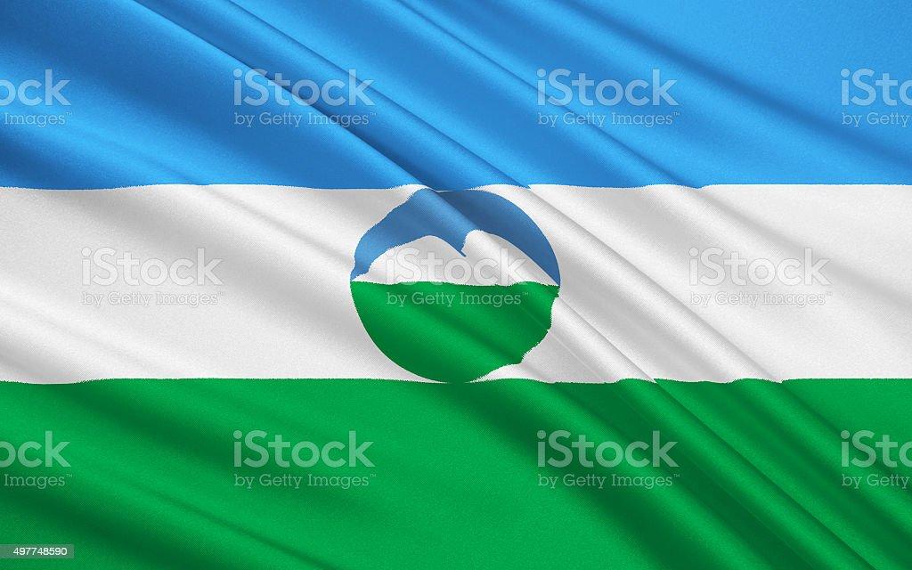 Flag of Republic of Kabardino-Balkaria, Russian Federation vector art illustration