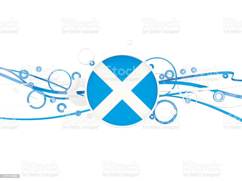 Flag of scotland, circles pattern with lines stock photo