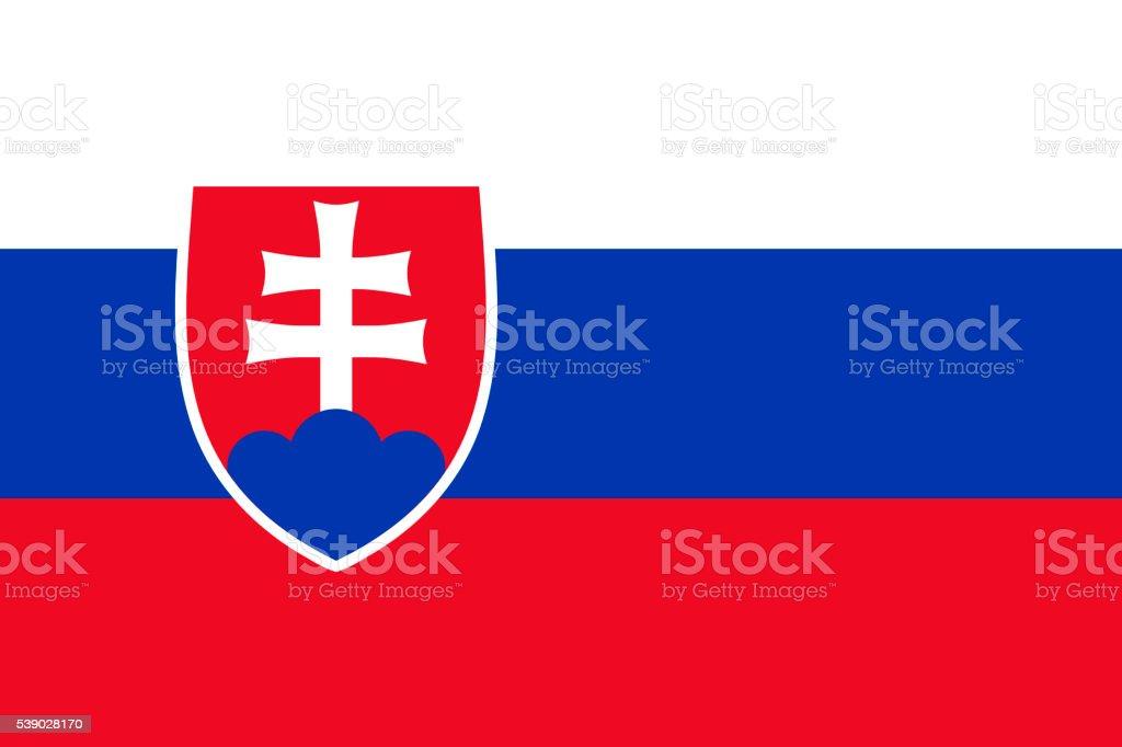 Flag of Slovakia vector art illustration