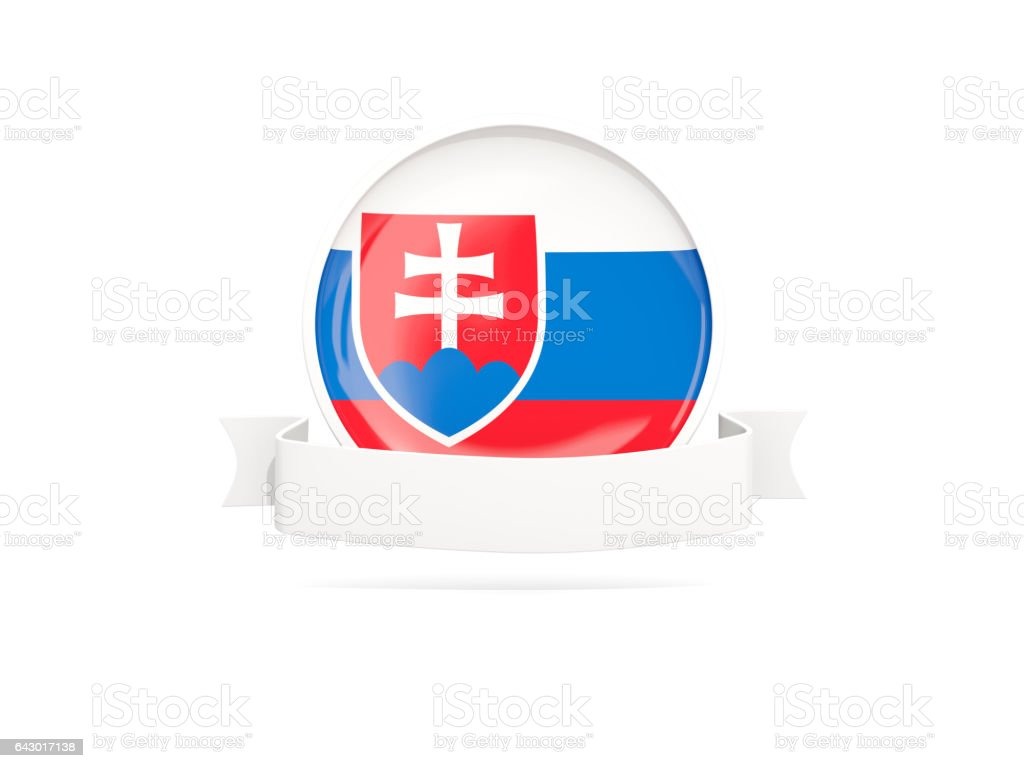 Flag of slovakia with banner stock photo