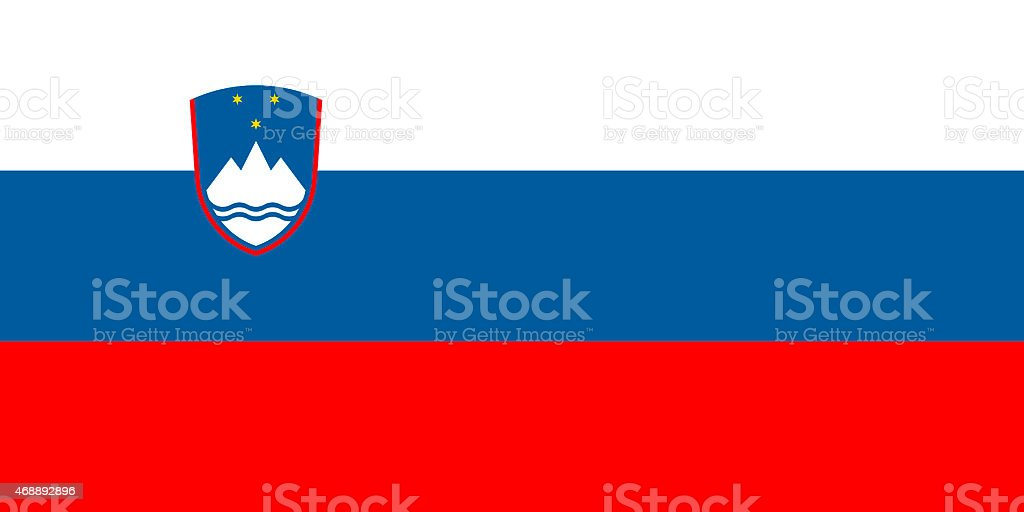 Flag of Slovenia vector art illustration