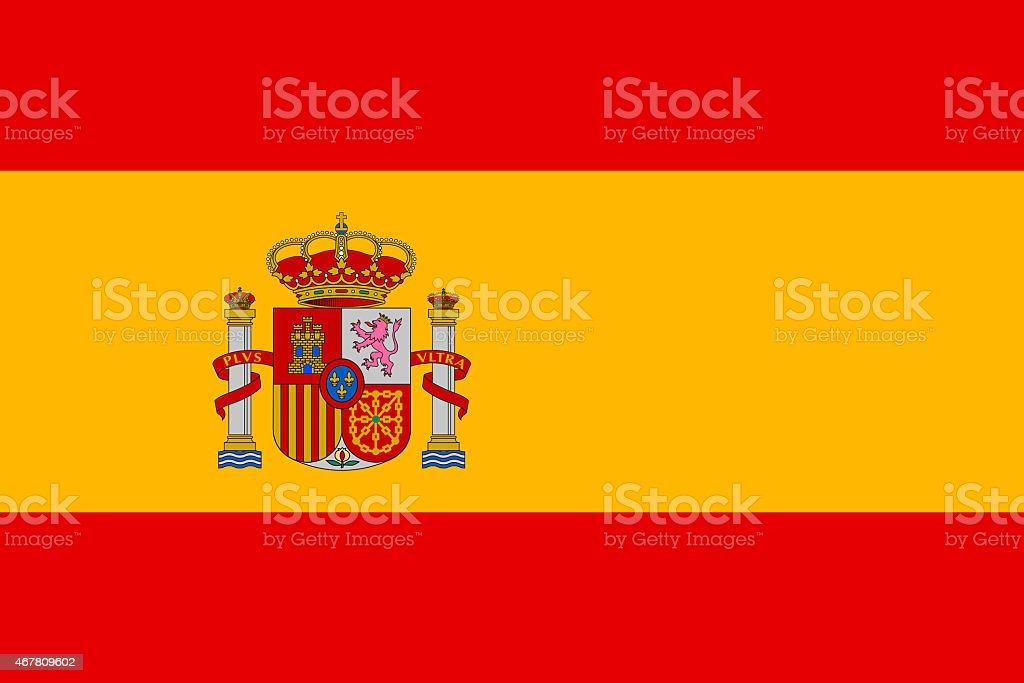 Flag of Spain vector art illustration