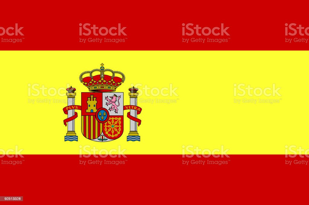 Flag of Spain - vector. High details. vector art illustration