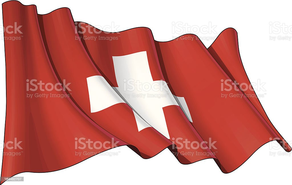 Flag of Switzerland royalty-free stock vector art