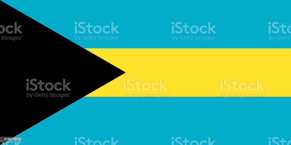 Flag of the Bahamas vector art illustration