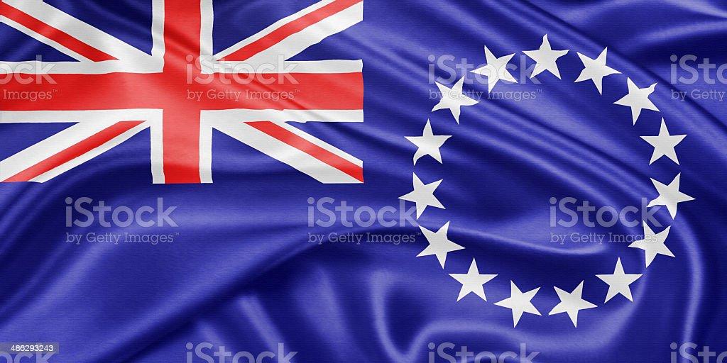 Flag of the Cook Islands vector art illustration