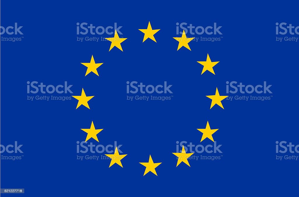 Flag of the European Union vector art illustration