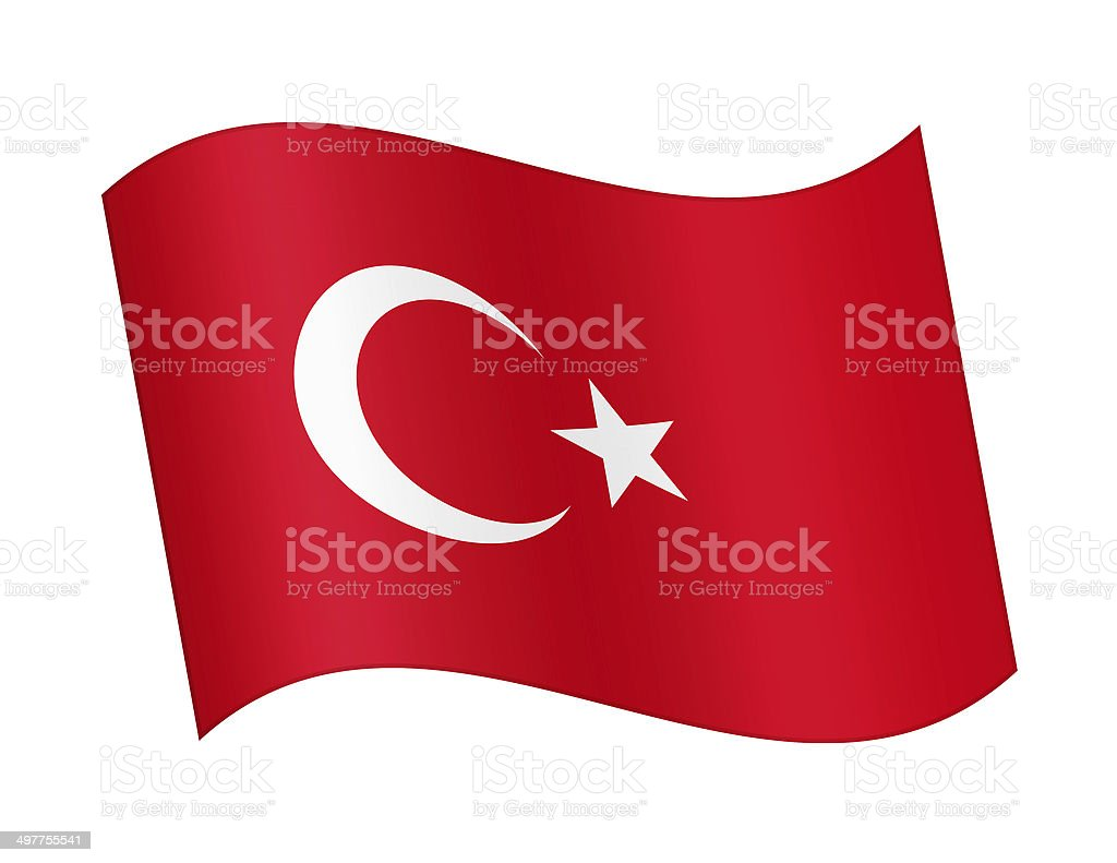 Flag of Turkey royalty-free stock vector art