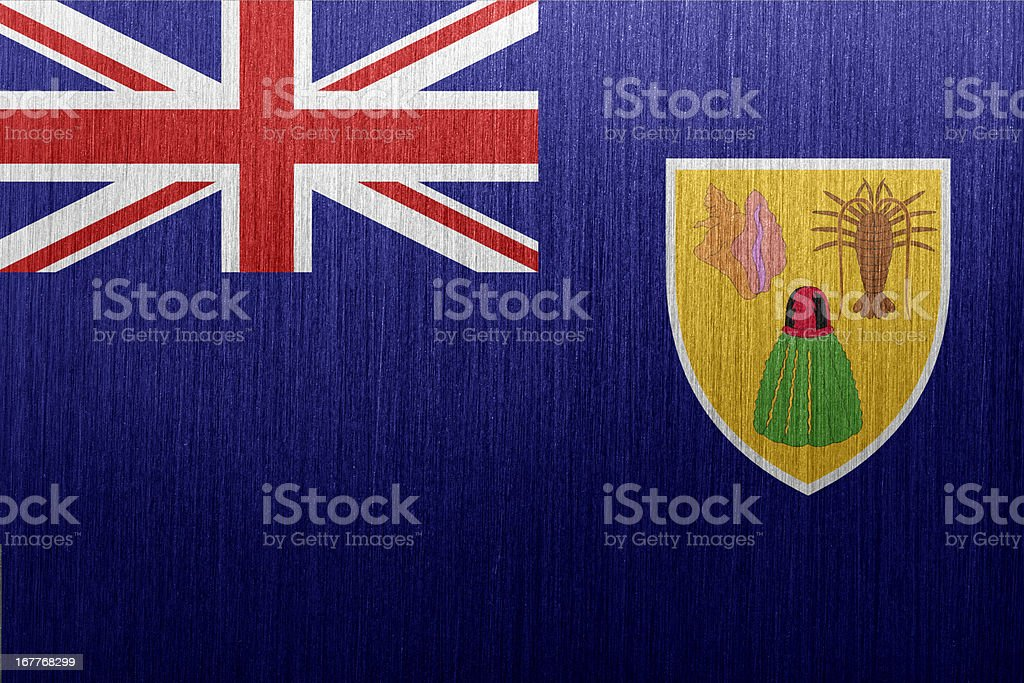 Flag of Turks and Caicos Islands royalty-free stock vector art