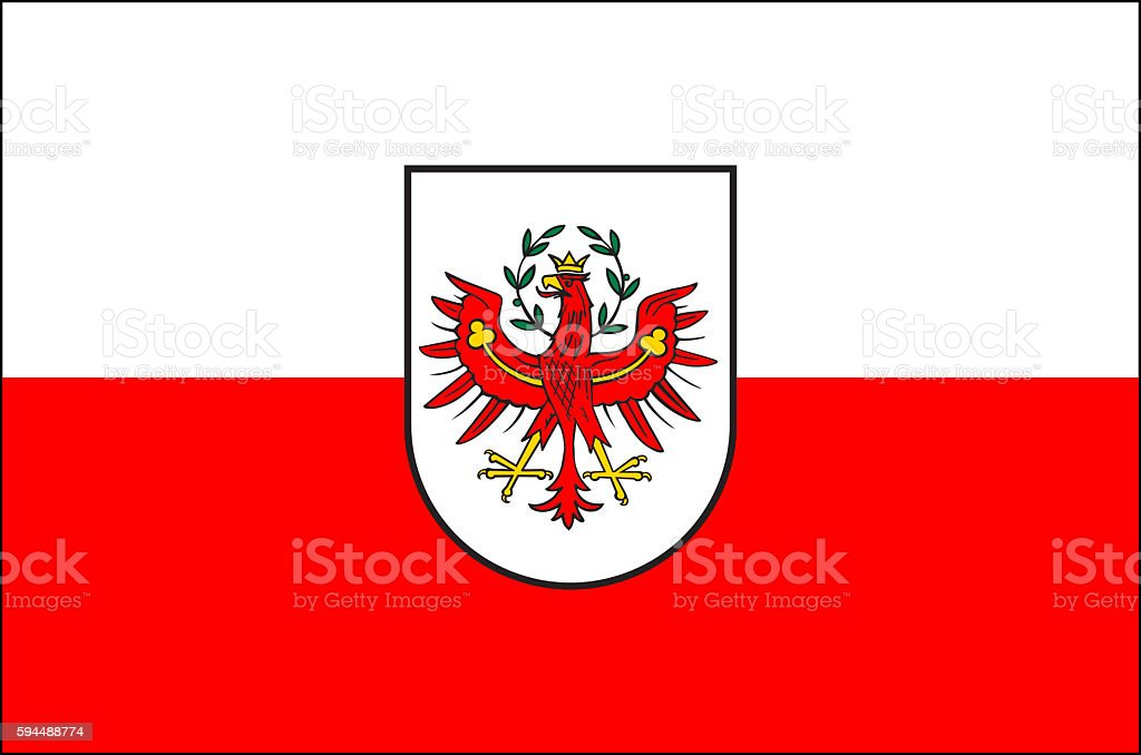 Flag of Tyrol - Austria. vector art illustration