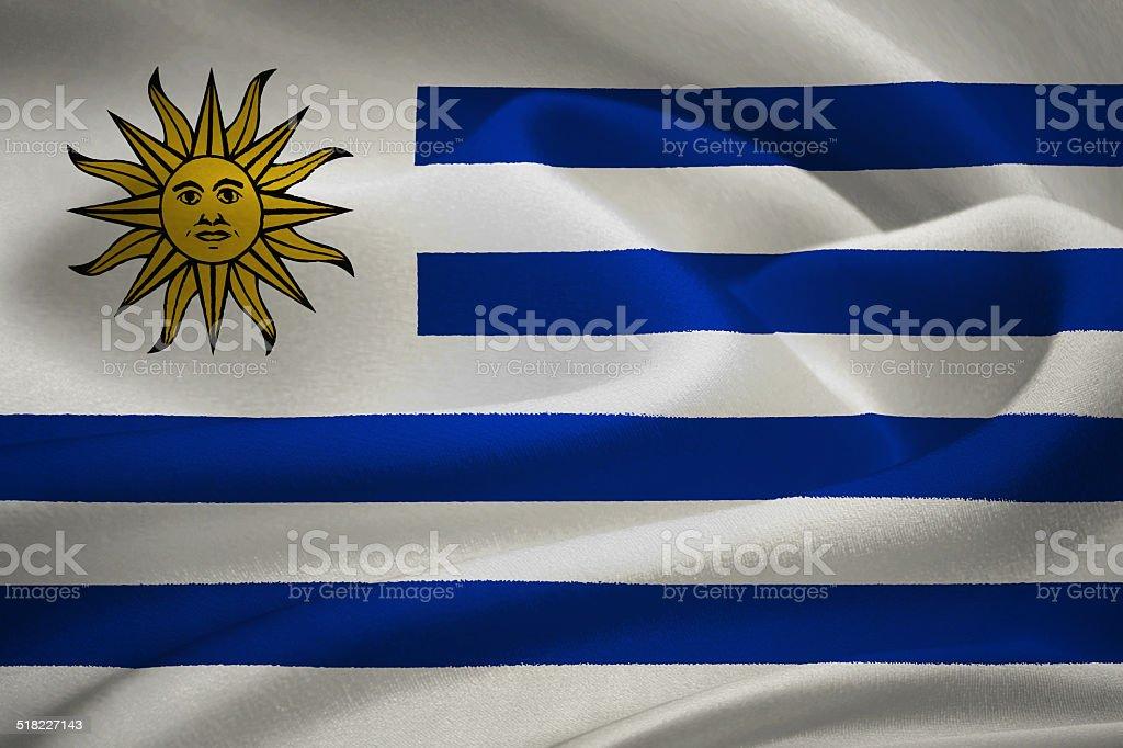 flag of Urugua vector art illustration