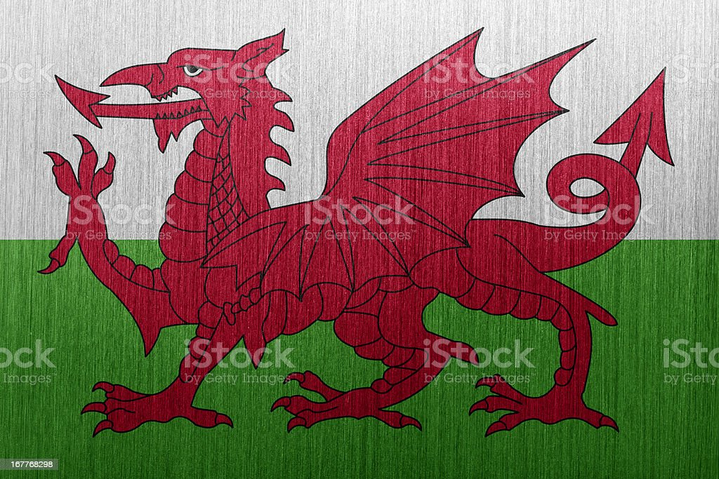 Flag of Wales royalty-free stock vector art