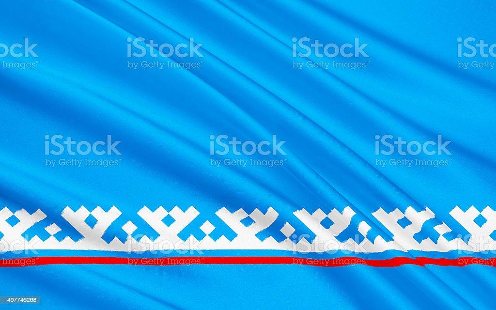Flag of Yamalo-Nenets Autonomous District, Russian Federation vector art illustration