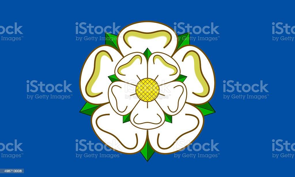 Flag of Yorkshire vector art illustration