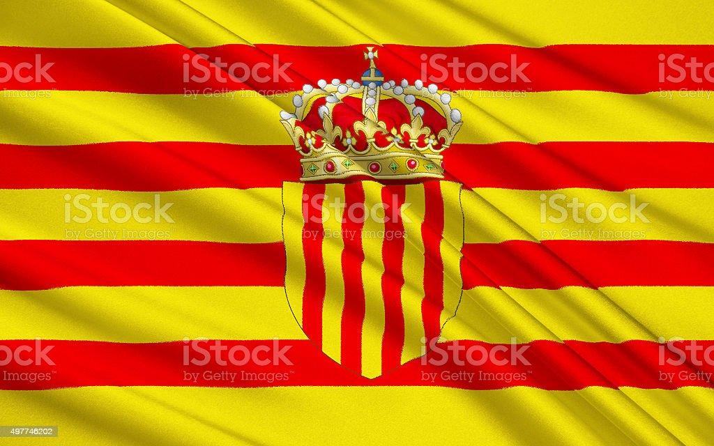 Flag Senyera vector art illustration