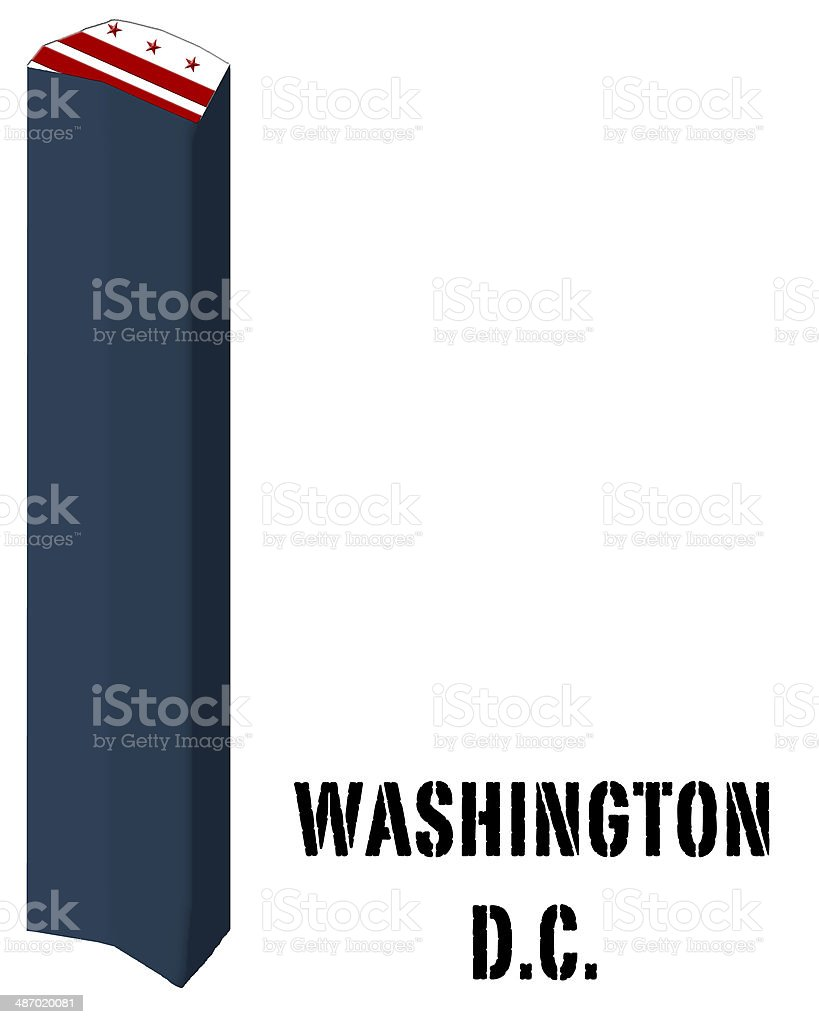 3D flag State of Washington D.C. United States America vector art illustration