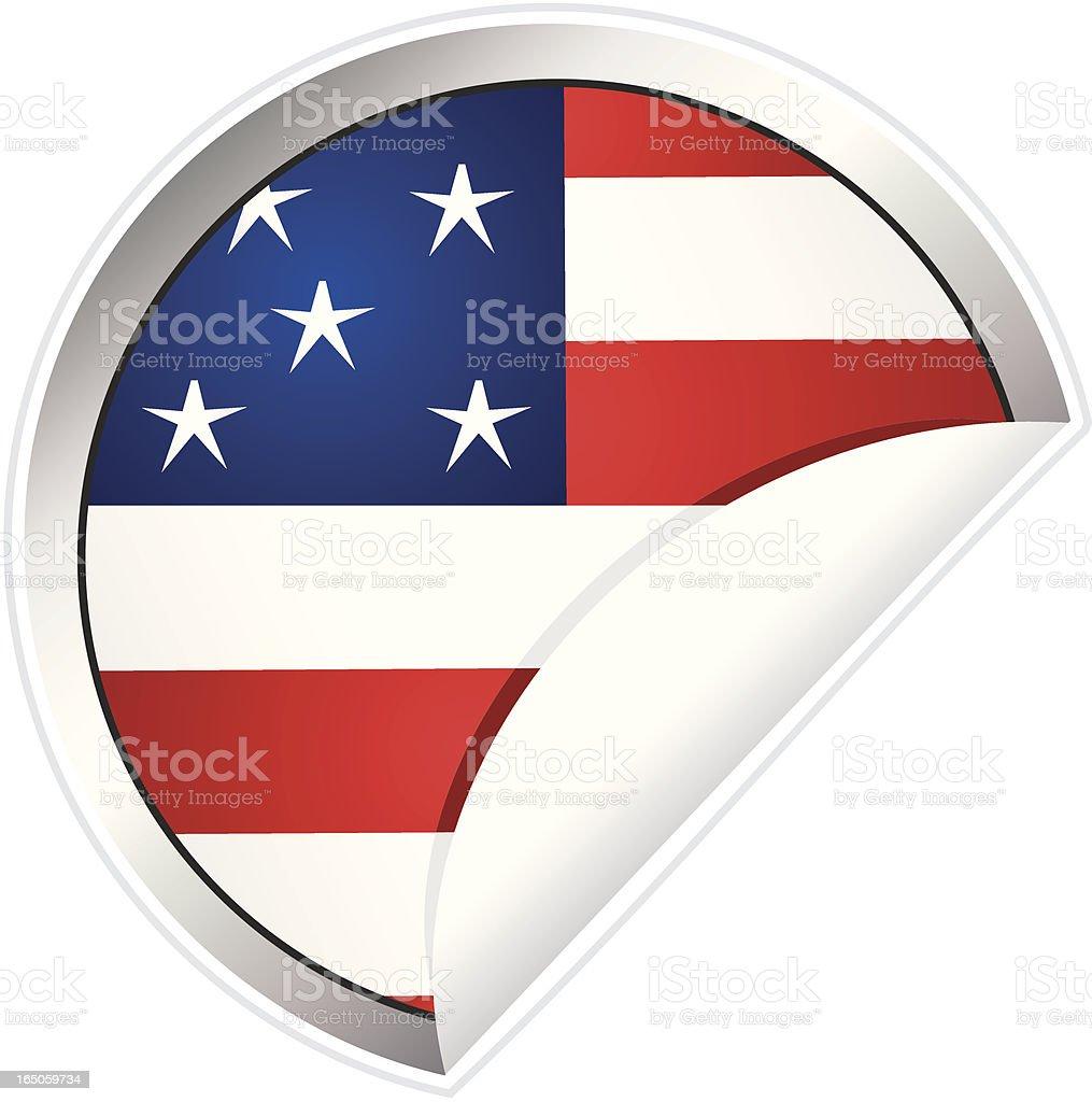 USA Flag Sticker royalty-free stock vector art