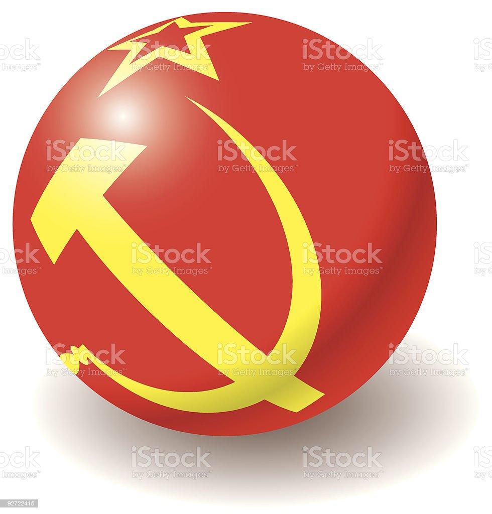 USSR flag texture on ball. royalty-free stock vector art