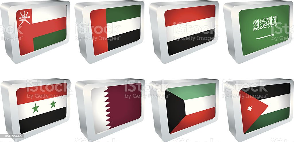 Flag Tile - Middle East royalty-free stock vector art