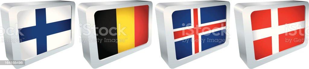 Flag Tiles - Europe group royalty-free stock vector art