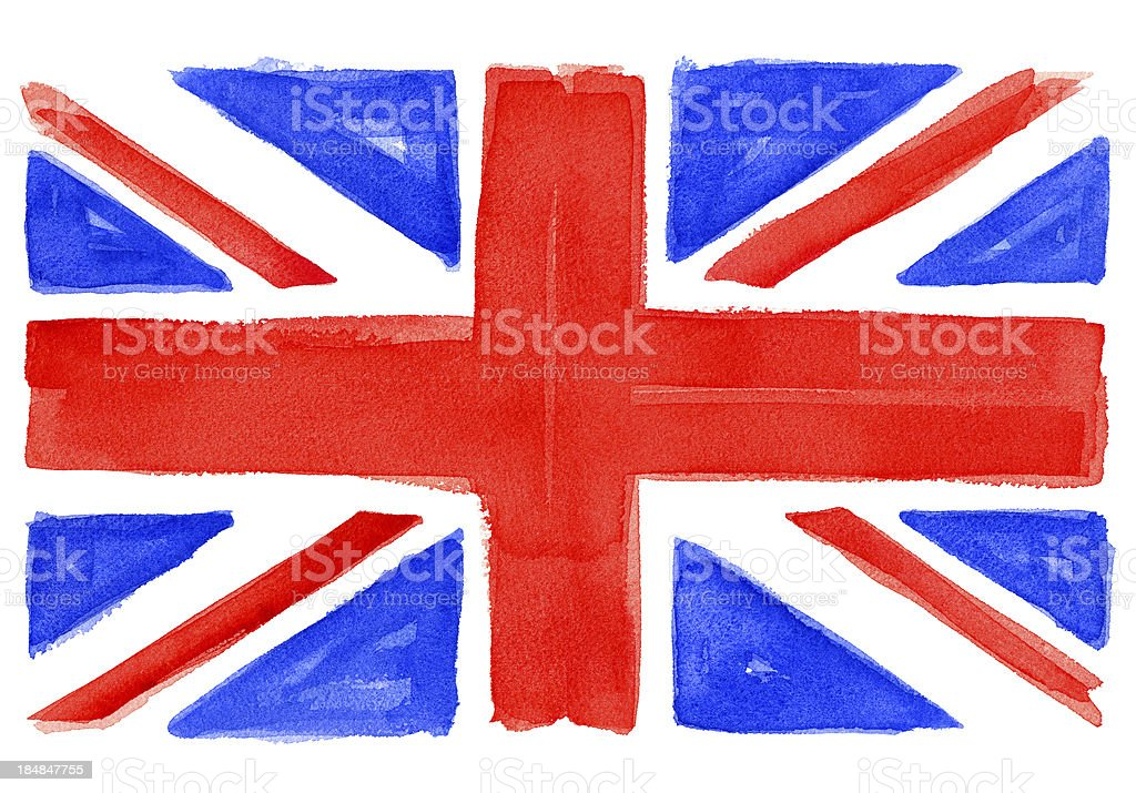 UK flag watercolor royalty-free stock vector art