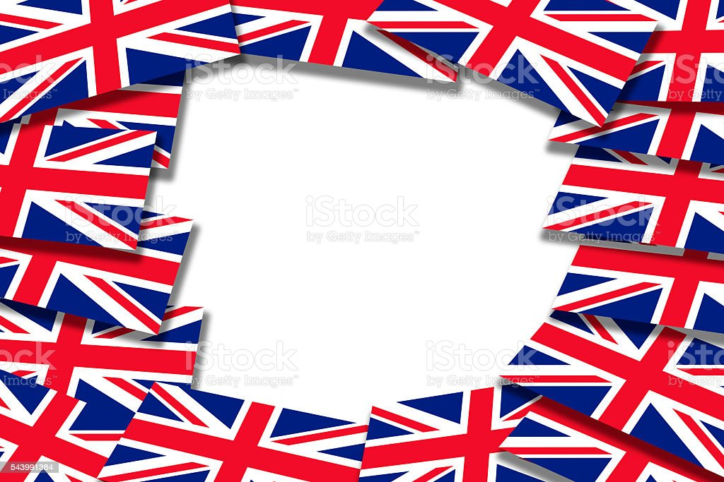 Flags of the United Kingdom vector art illustration