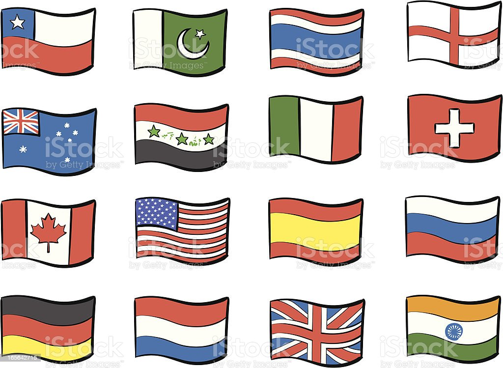 Flags of the world royalty-free stock vector art
