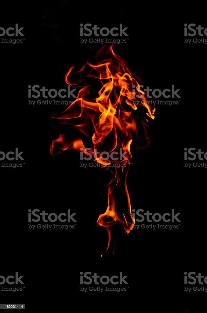Płomienie na czarnym tle stockowa ilustracja wektorowa royalty-free