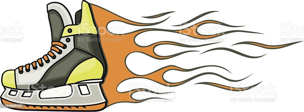 Flaming Skate (Vector) royalty-free stock vector art