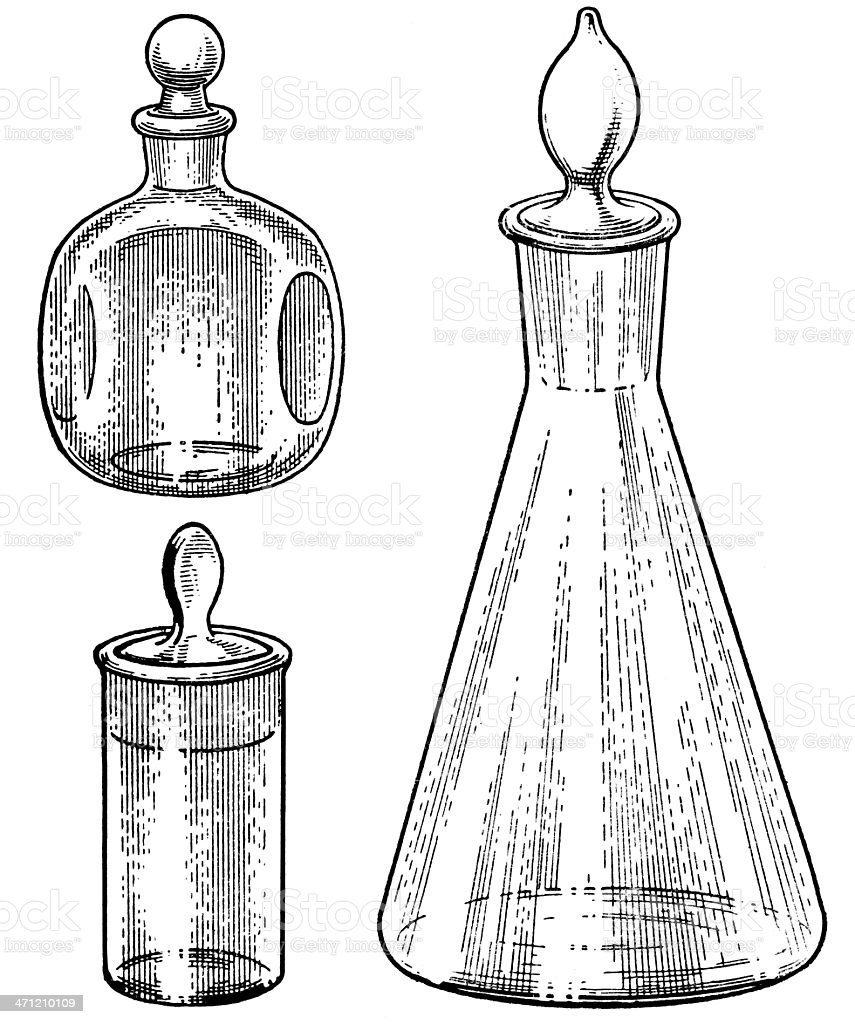 flasks royalty-free stock vector art
