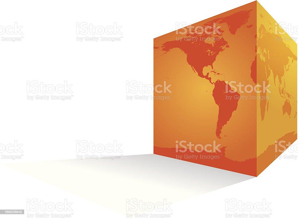Flat Earth royalty-free stock vector art