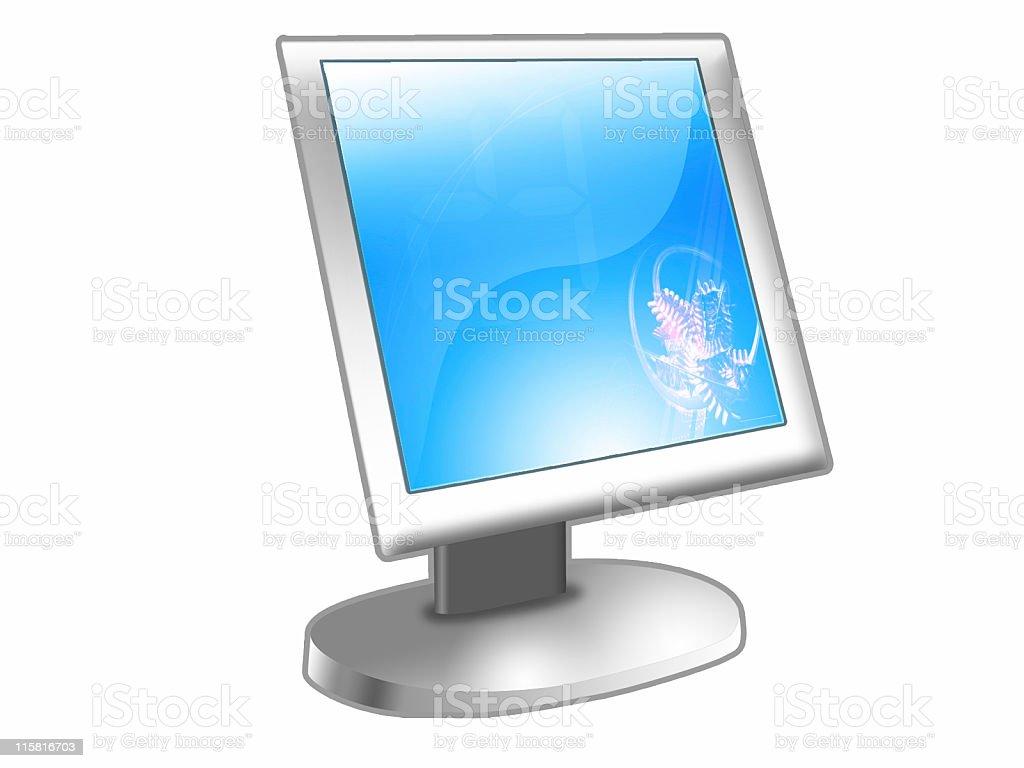LCD Flat Screen Monitor I vector art illustration