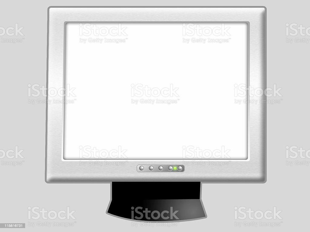 LCD Flat Screen Monitor II vector art illustration