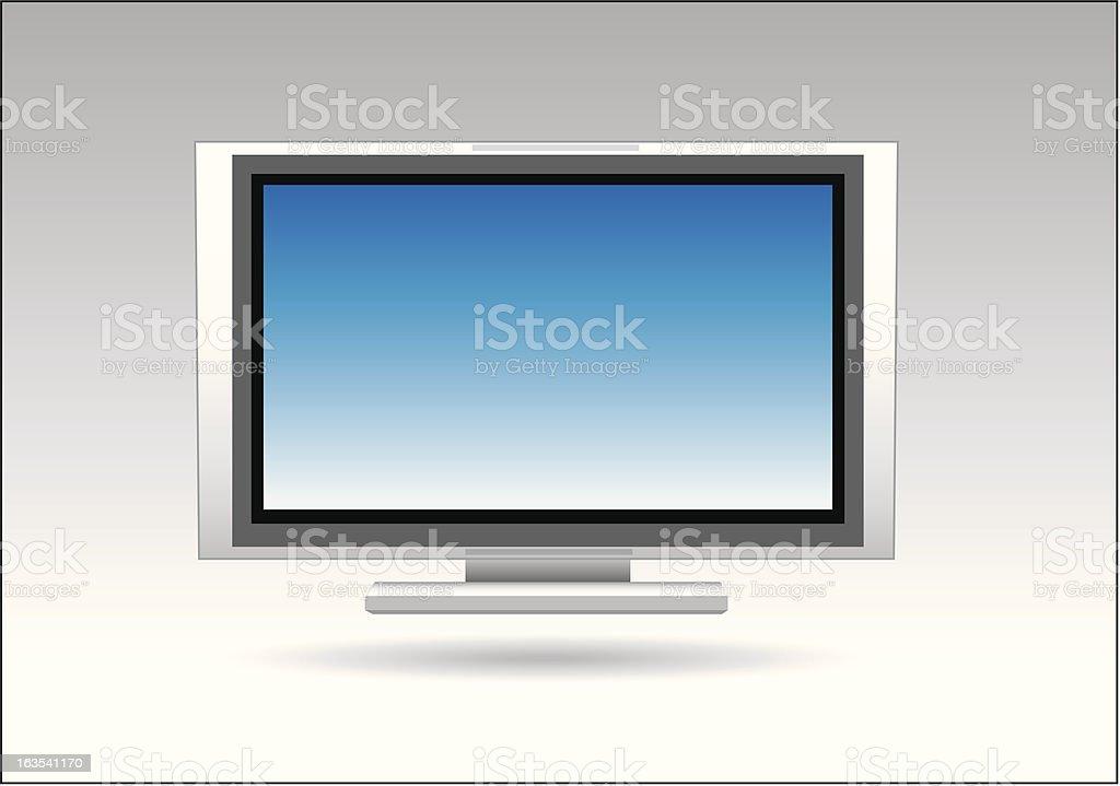 Flat screen TV royalty-free stock vector art