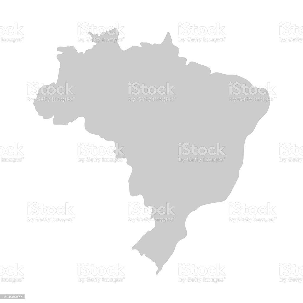 Flat Simple Brazil Map Stock Vector Art IStock - Brazil map illustration