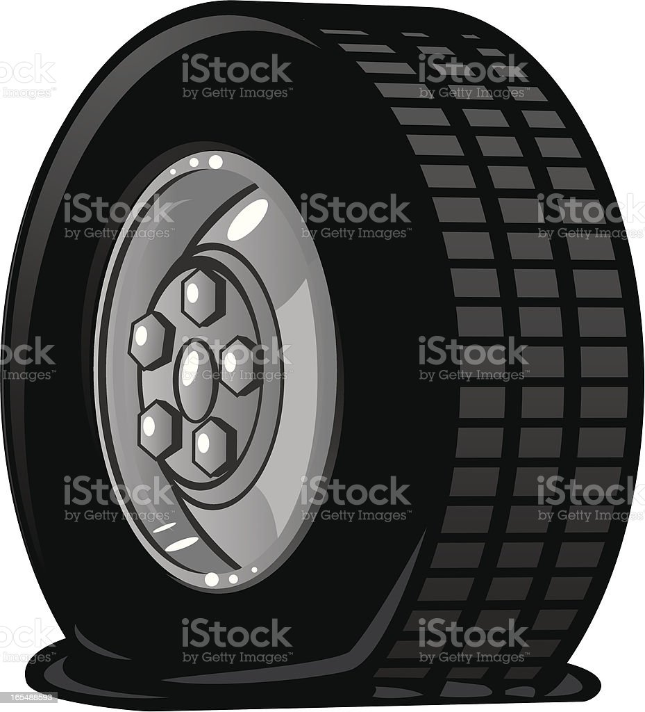 flat tire royalty-free stock vector art