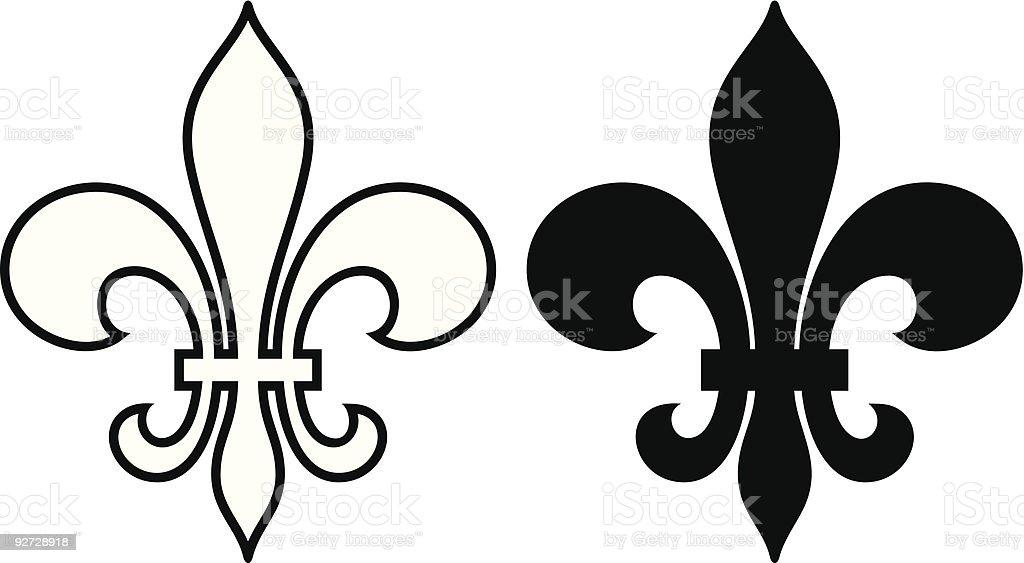 Fleur de lis royalty-free stock vector art