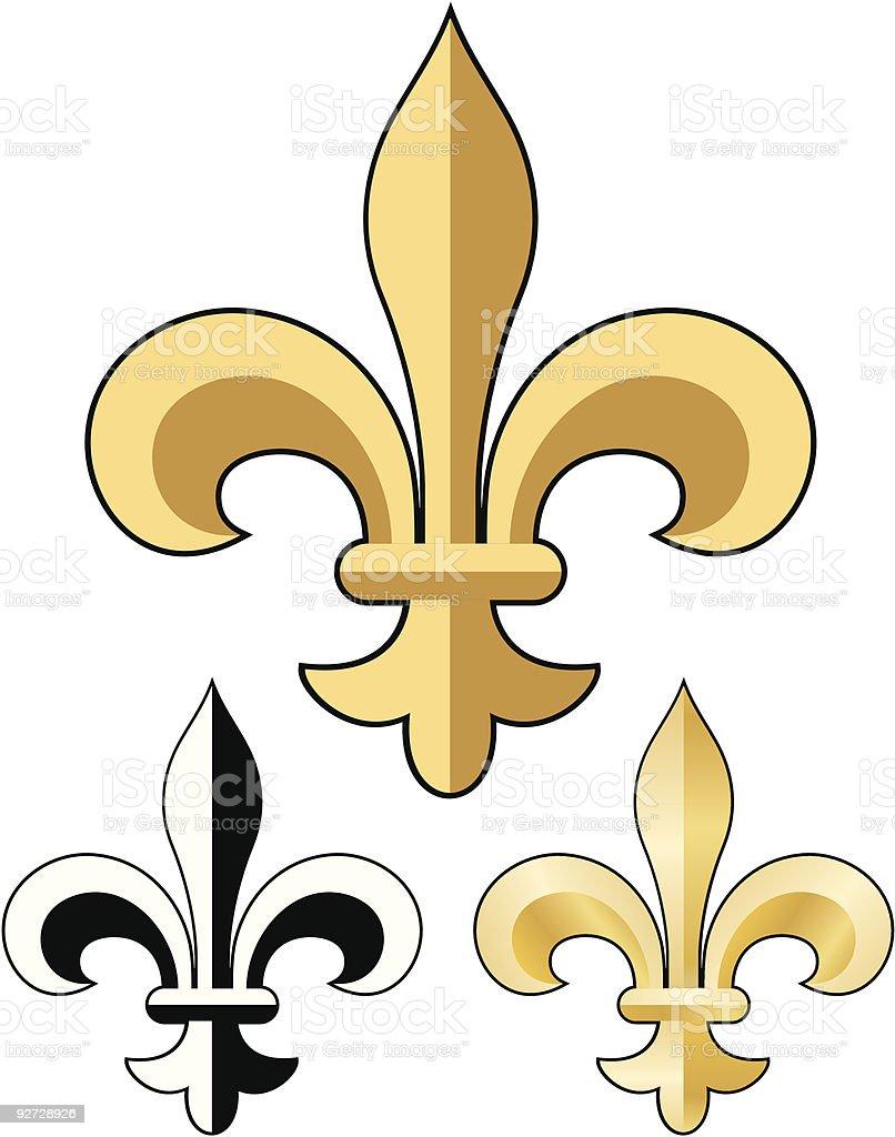 Fleur de lys royalty-free stock vector art