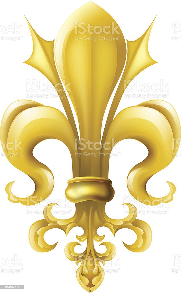 Fleur-de-lis graphic royalty-free stock vector art
