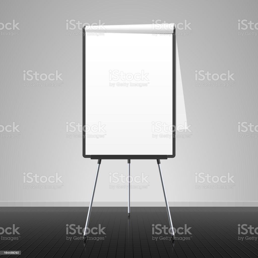 Flip chart vector art illustration