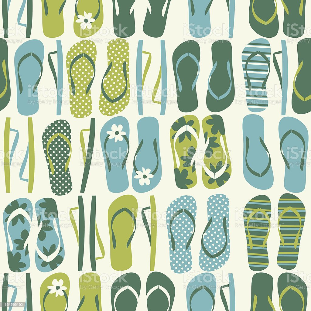 Flip Flops Background royalty-free stock vector art