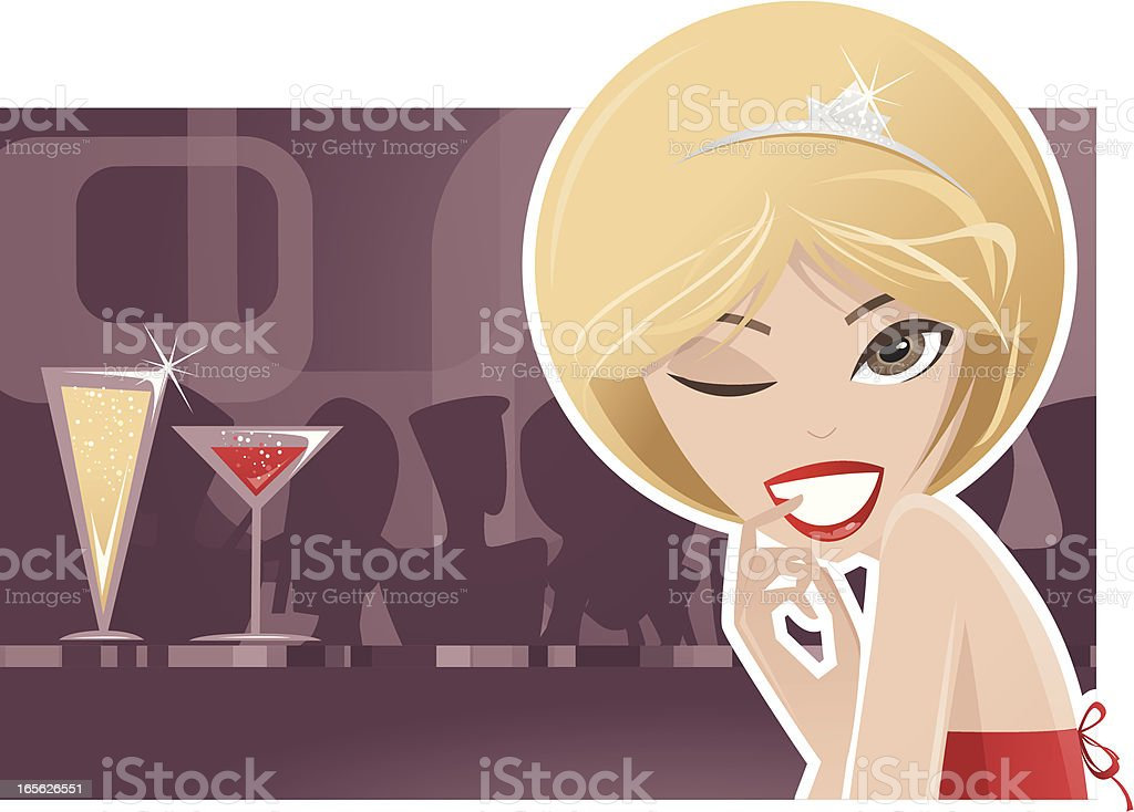 Flirting Blond royalty-free stock vector art