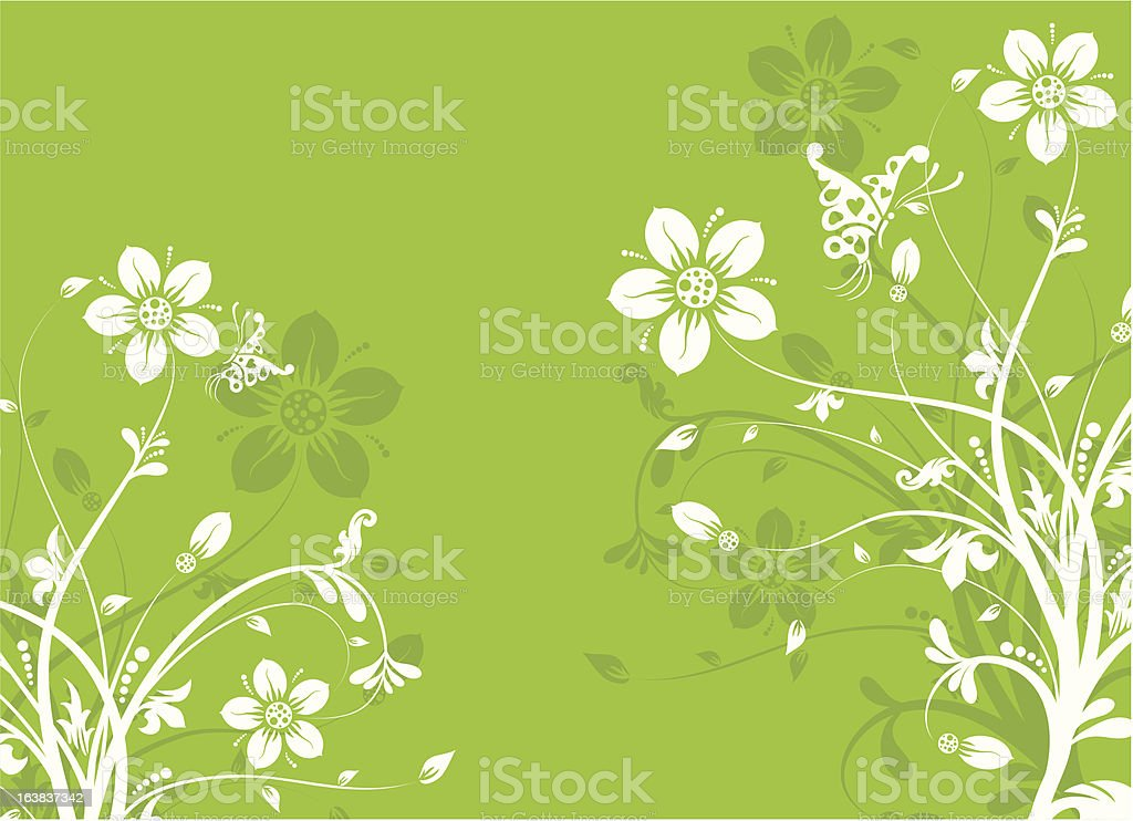 Floral abstract background royalty-free stock vector art